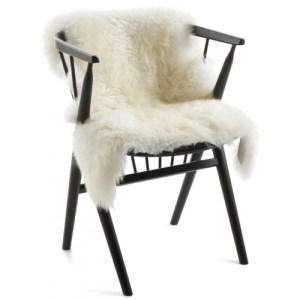 Natures Collection long wool Lammeskind - ivory