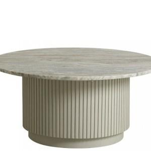 Nordal Erie sofabord - hvid marmor - 75