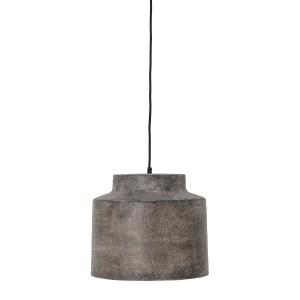 BLOOMINGVILLE Grei pendel loftslampe, rund - gråt metal (Ø 33,5)