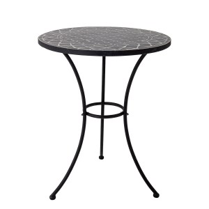 BLOOMINGVILLE Lala sidebord, rund - sort sten/keramik/metal (Ø 60)