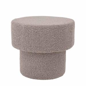 BLOOMINGVILLE Raymon puf, rund - brunt polyester stof (Ø 50)