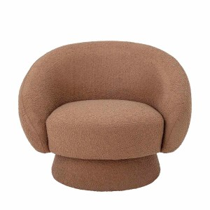 BLOOMINGVILLE Ted loungestol, m. armlæn - brunt polyester stof