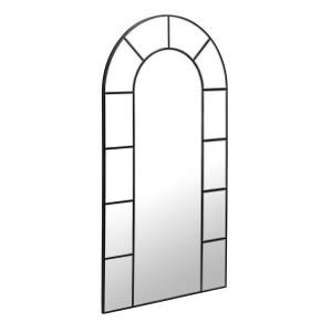 LAFORMA Nediva vægspejl - sort metal og spejlglas (88x165)