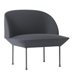 Muuto Oslo Lounge Chair - Steelcut 180