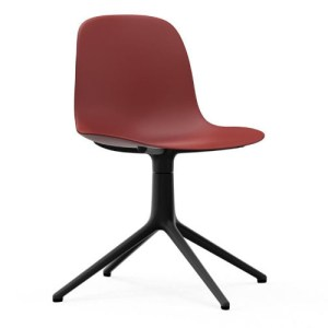 Normann Copenhagen Form stol Rød med Sort drejestel