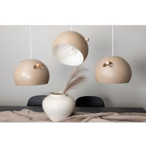 VENTURE DESIGN Tubbie loftlampe - natur træ og beige jern