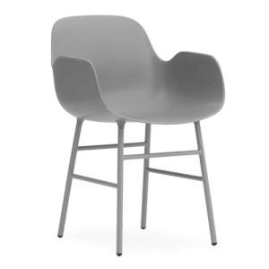 Normann Copenhagen Form Armchair Grey - Stålben