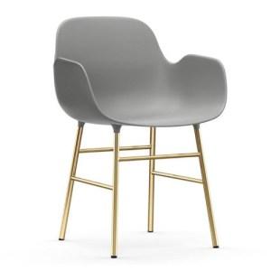 Normann Copenhagen Form Armchair Grey - messingben