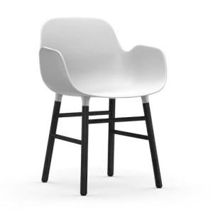 Normann Copenhagen Form Armchair Hvid Sortbejds Eg