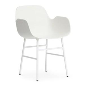 Normann Copenhagen Form Armchair Hvid - Stålben