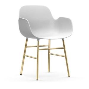 Normann Copenhagen Form Armchair Hvid - messingben