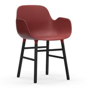 Normann Copenhagen Form Armchair Red Sortbejds Eg