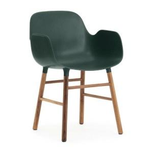 Normann Copenhagen Form armchair Green - Valnød