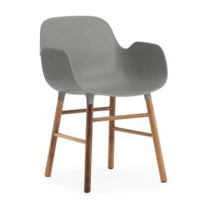 Normann Copenhagen Form armchair Grey - Valnød