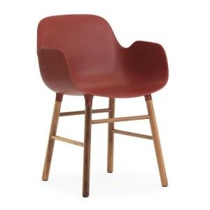 Normann Copenhagen Form armchair Red - Valnød