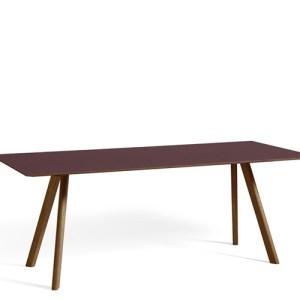 HAY CPH30 Table - 200x90cm - Valnød - Burgundy Linolium