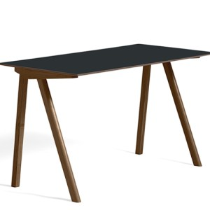 HAY CPH90 Desk - Valnød - Dark Grey Linolium - Mat Lak