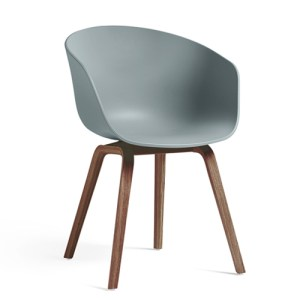 Hay About A Chair (AAC22) - Dusty Blue - Valnød
