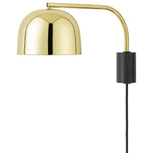 Normann Copenhagen Grant væglampe - messing - 43