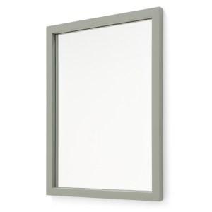 SPINDER DESIGN Senza vægspejl - spejlglas og støvet grønt stål (55x40)