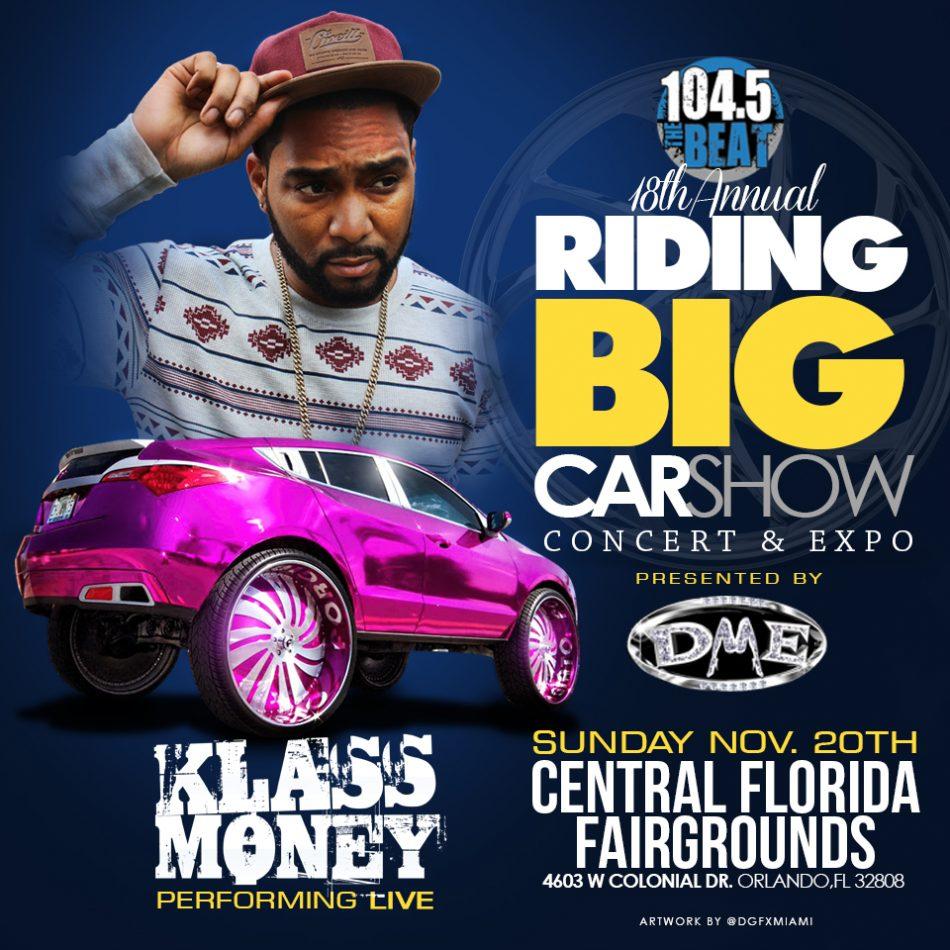 Klass Money Scheduled To Perform At Floridas Famous Classic Riding - Car show orlando fl