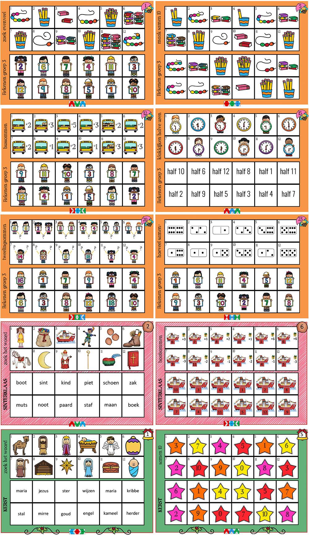 Mini loco kaarten groep 3