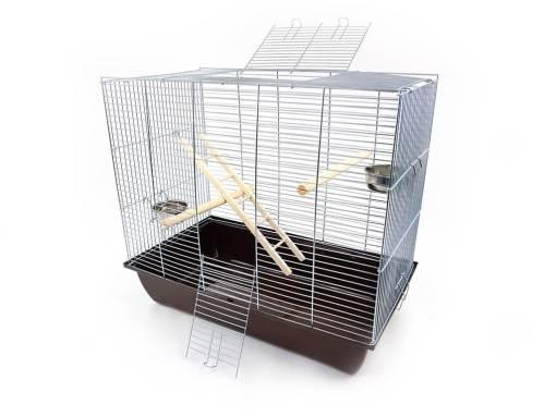 Klatka dla ptaków Mega2, brązowa kuweta