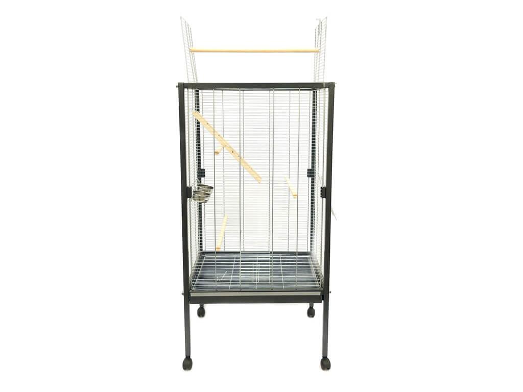 Woliera DOMINIKA - klatka dla ptaków, srebrna