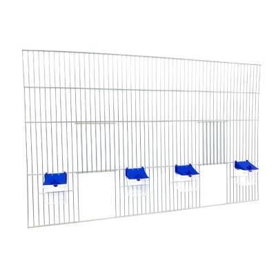 Front dobudowy klatek dla ptaków 80x50 zpoidełkami