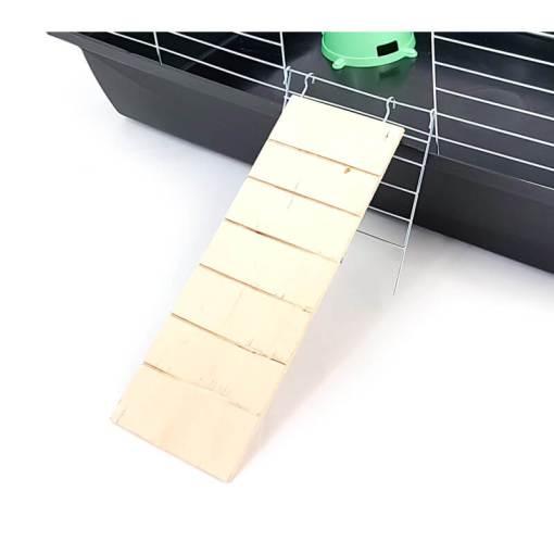 Podest drewniany do kuwety dla królików