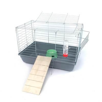 Klatka dla królika lub świnki morskiej 60cm z podestem