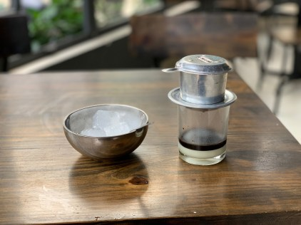 Vietnamese coffee. A treat to look forward to at the end of the day.