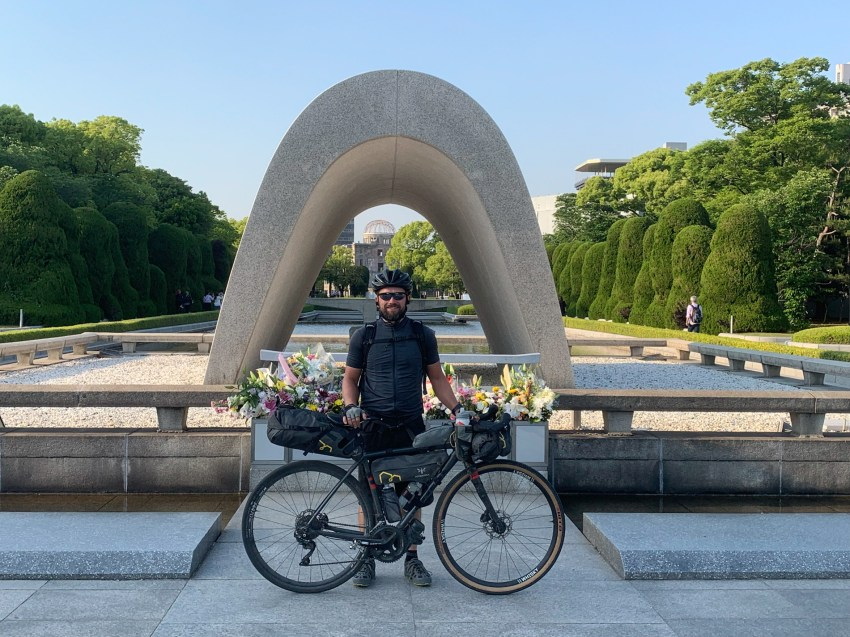 Concluding my journey through Japan at the cenotaph in Hiroshima Peace Memorial Park