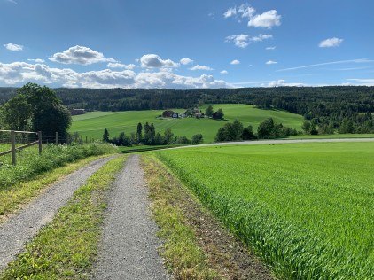 Lush green rolling hills, sunny weather and compact gravel. Ideal conditions that can change in an instant in Norway.