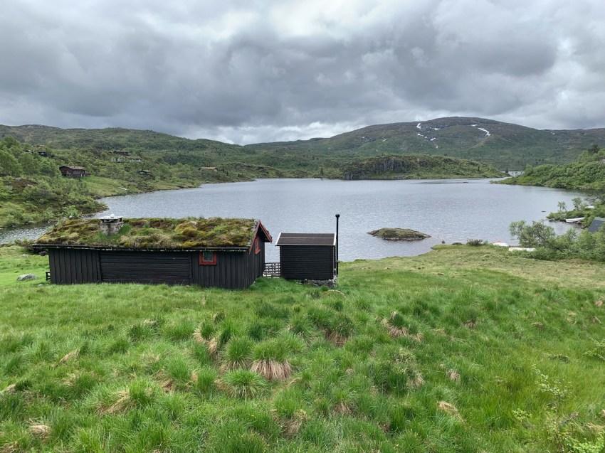 Views of serene mountain lakes along the Suleskarvegen
