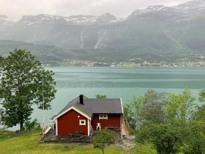 More rain along Sørfjorden, past the town of Odda