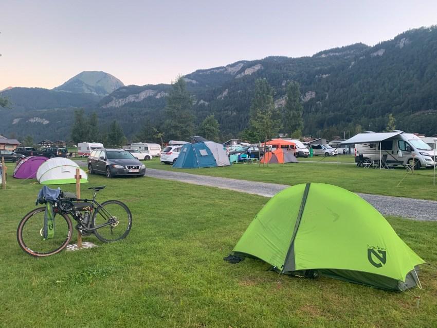 Busy campground in Meiringen