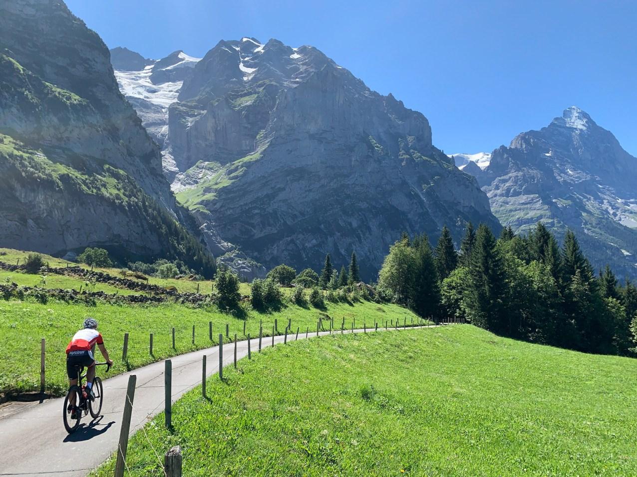 Exhilarating downhill into Grindelwald