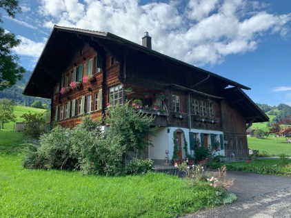 Traditional alpine foothill architecture