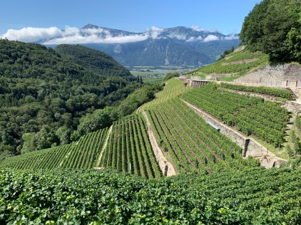 Entering the Rhone Valley with a descent from Col de Mosses