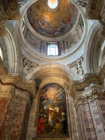 View from the nave towards the apse inside Chiesa dei Santi Giovanni e Reparata
