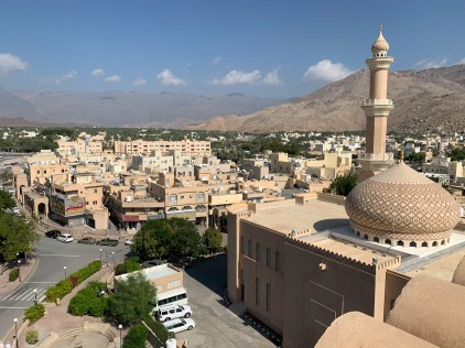 View from the top of Nizwa Fort towards the north of the city