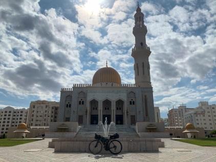 Virtual finish line at the Masjid Al Zawawi mosque, close to my accommodation
