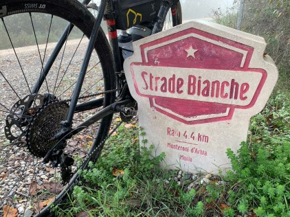 Sampling a few kilometers of the route of the Strade Bianche, an annual road cycling race