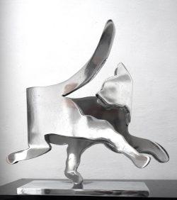 SC034 Chat Il  2014, 55 x 53 x 16 cm, Aluminium poli