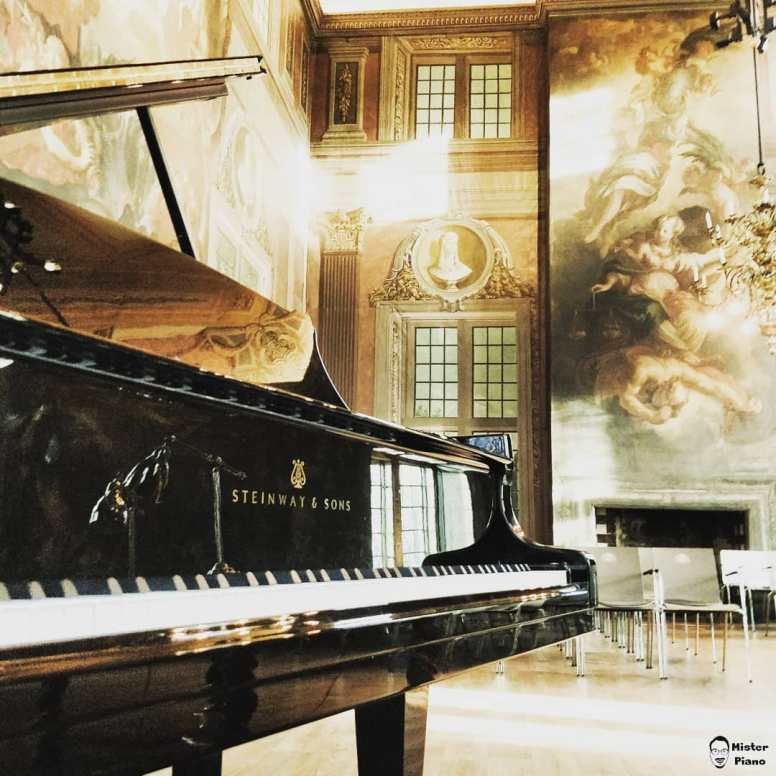 the keys are ready for #danielgolod @landpartie_thefinest #steinway #grand #castle #pianotuner