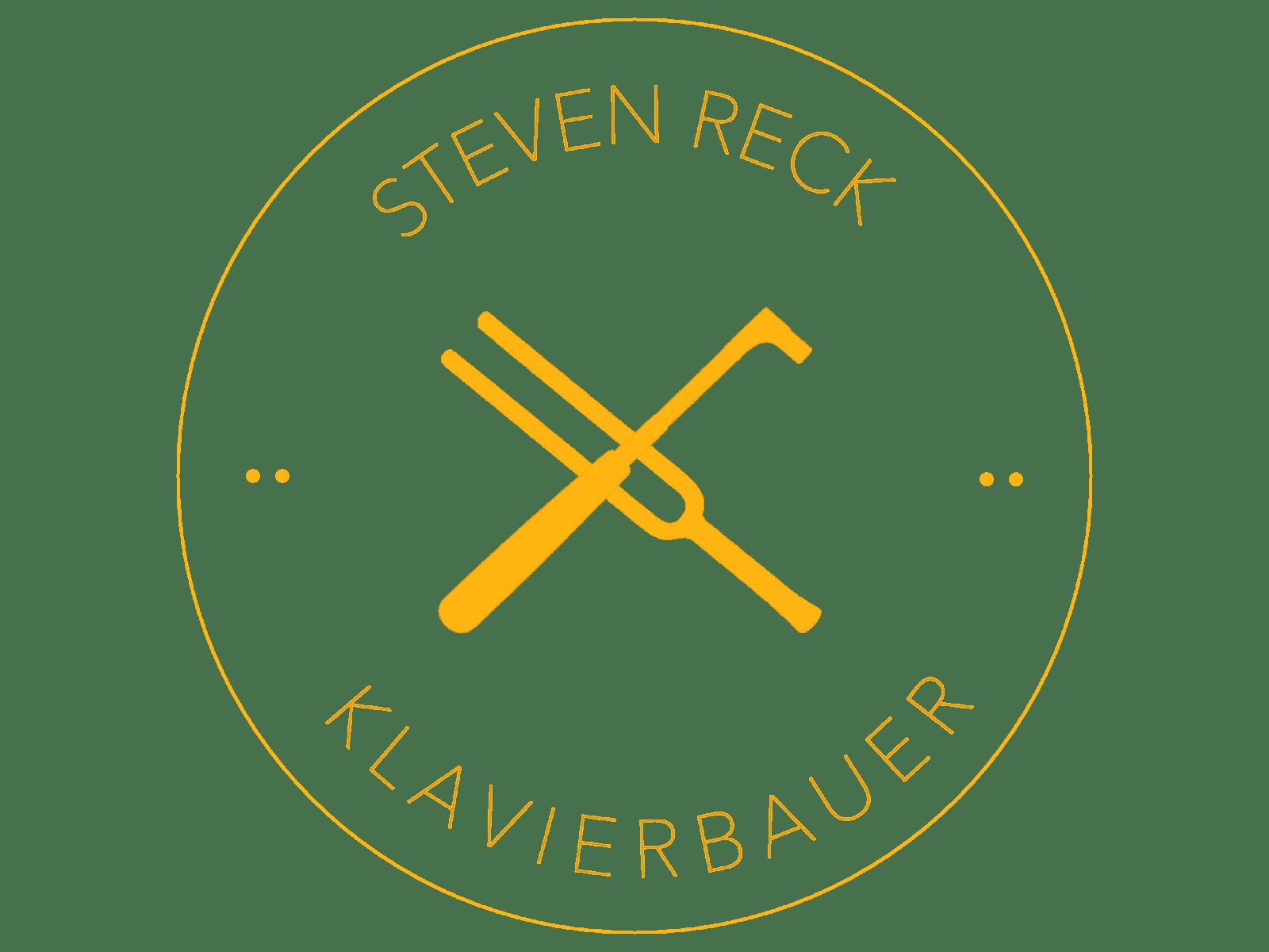 Logo freigestellt Gold Steven Reck Klavierbauer