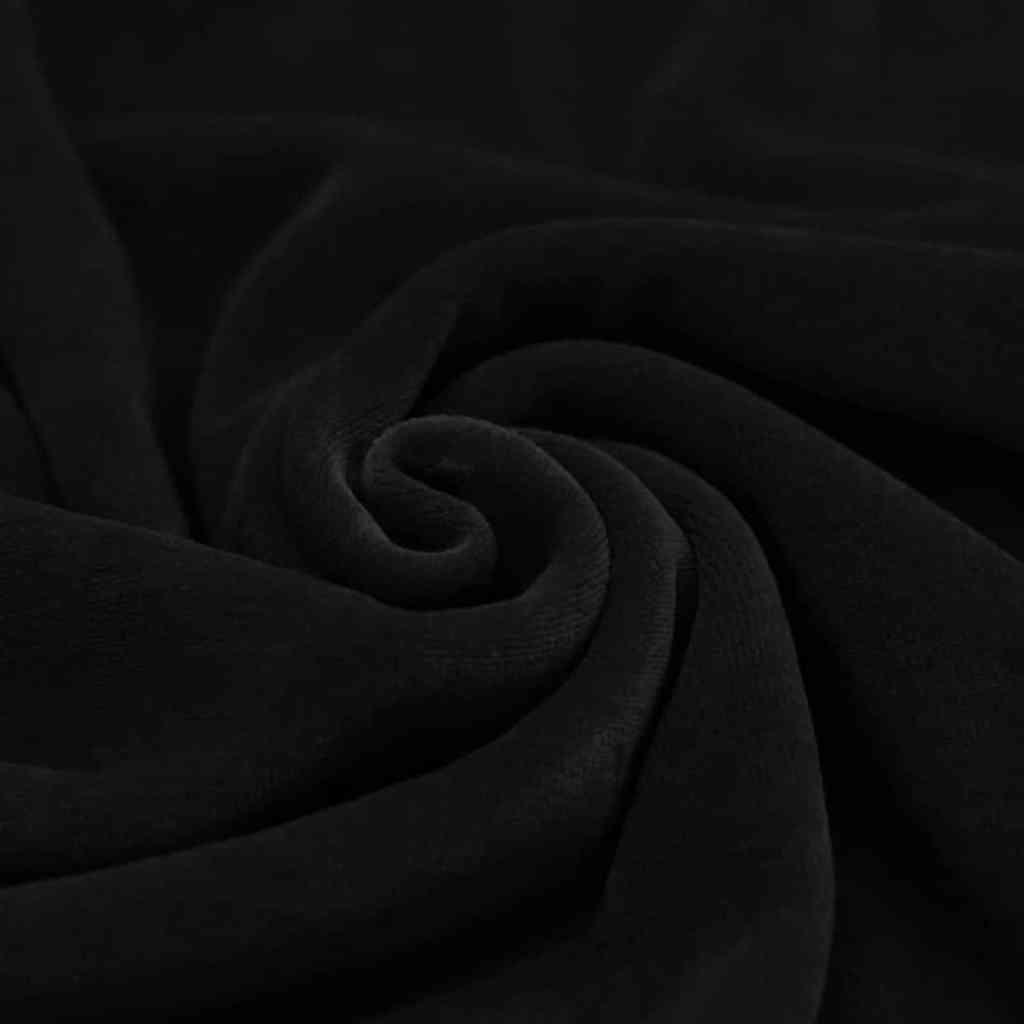 Velour zwart