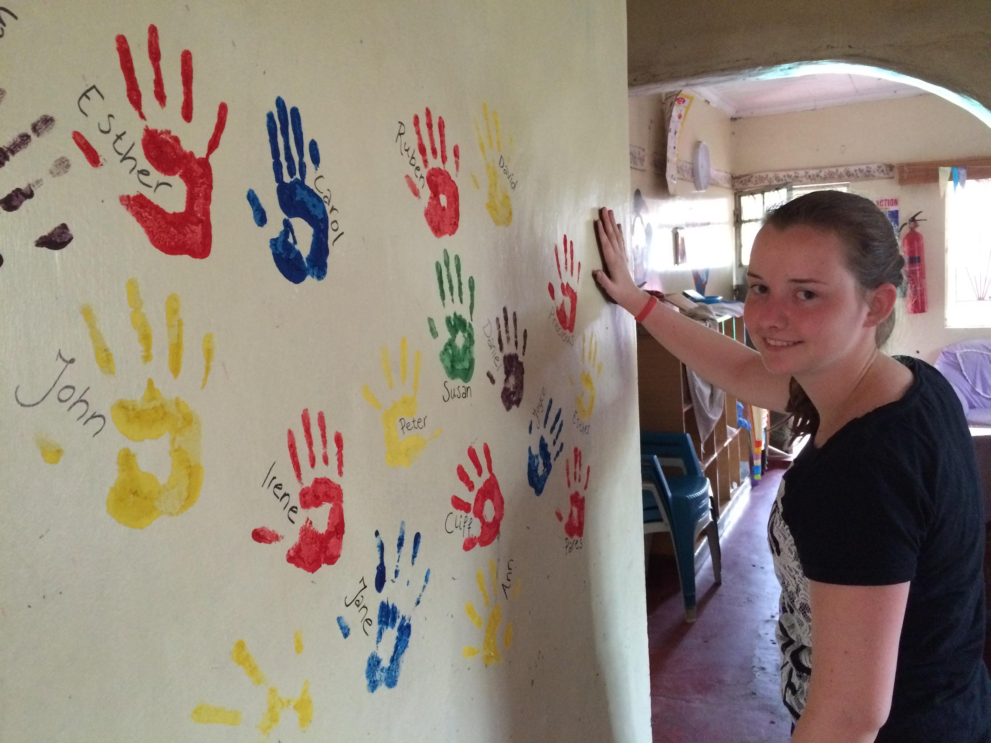 Mijn eigen hand op de muur 2016