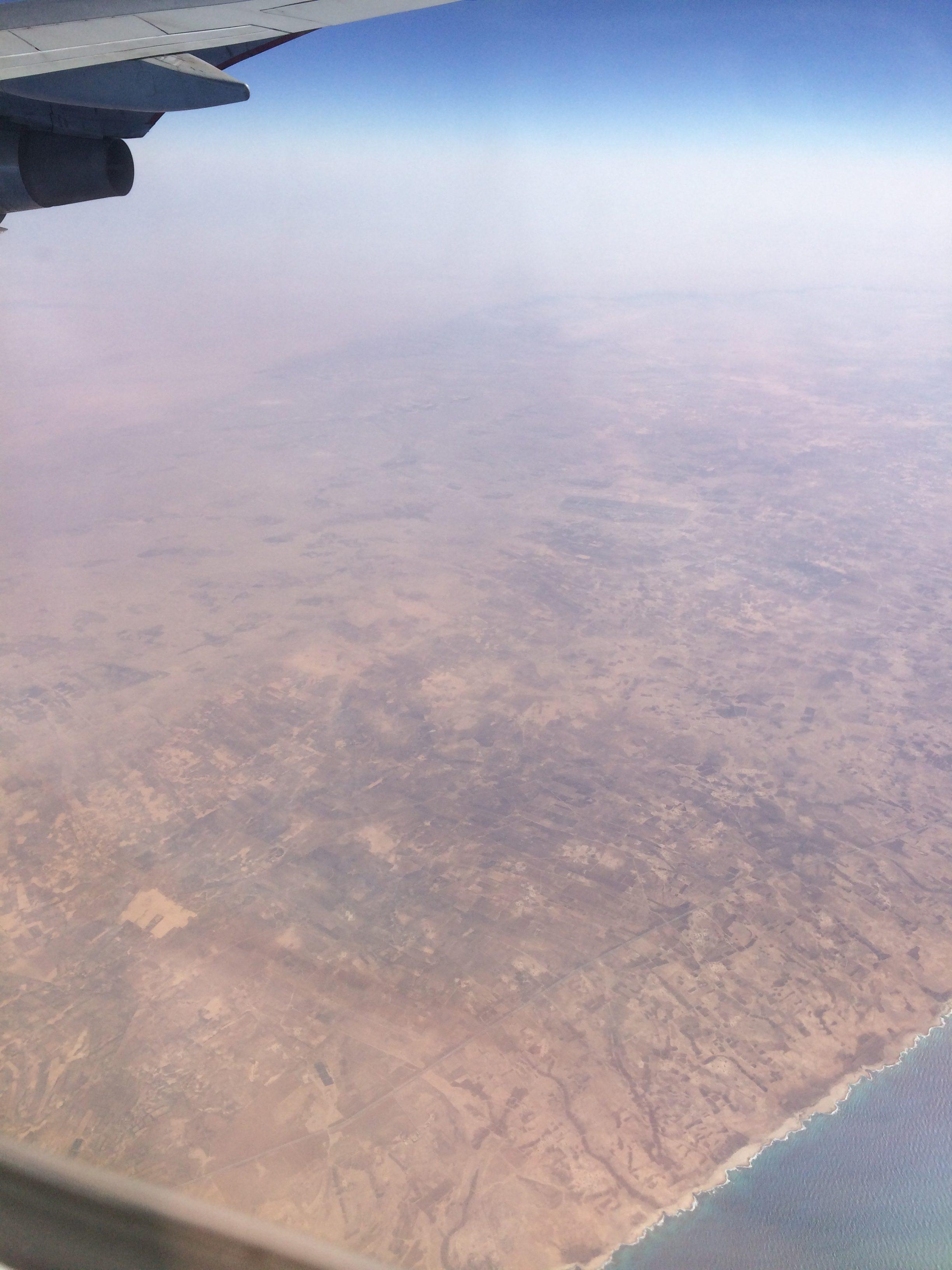 Vliegtuig, net in Afrika 2016